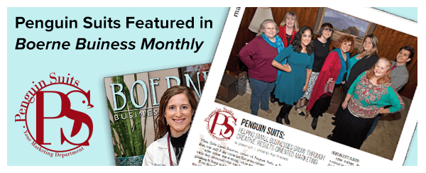 Boerne Business Monthly Features Penguin Suits...